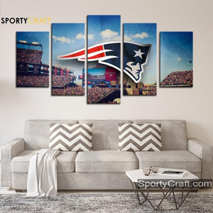 England Patriots Art Logo Canvas
