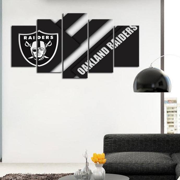 Oakland Raiders Cutting Style Canvas