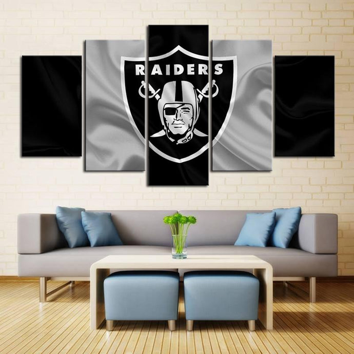 Oakland Raiders Fabric Style Canvas