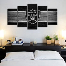 Load image into Gallery viewer, Las Vegas Raiders Wooden Canvas