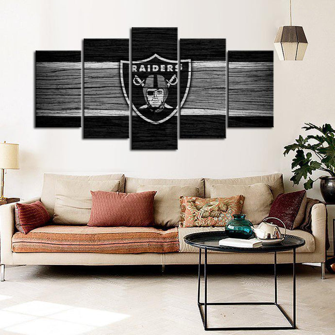 Oakland Raiders Wooden Canvas