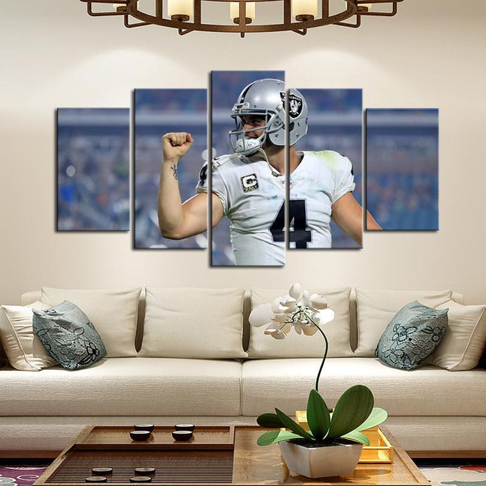 Derek Carr Oakland Raiders Canvas