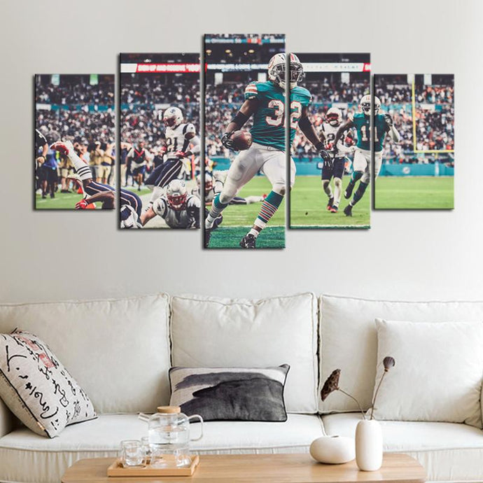 Miami Dolphins Miracle Canvas