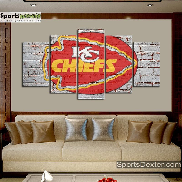 Kansas City Chiefs Old Street Wall Canvas