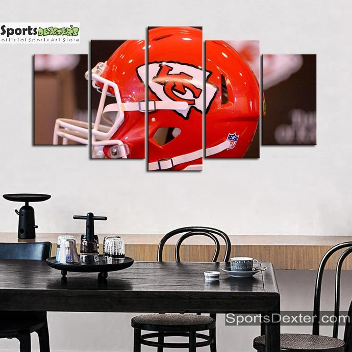 Kansas City Chiefs Helmet Look Canvas