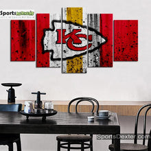 Load image into Gallery viewer, Kansas City Chiefs Rough Look Canvas