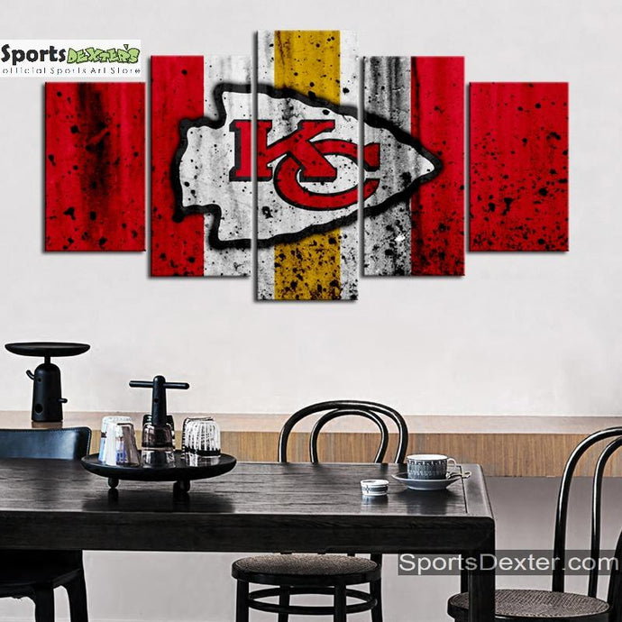 Kansas City Chiefs Rough Look Canvas