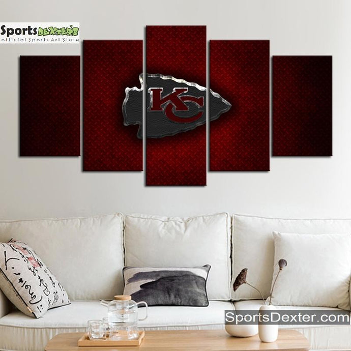 Kansas City Chiefs Steel Cut Canvas