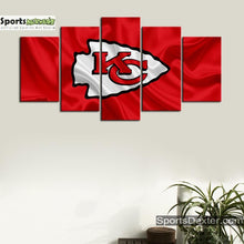 Load image into Gallery viewer, Kansas City Chiefs Flag Look Canvas