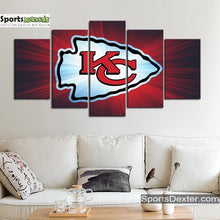 Load image into Gallery viewer, Kansas City Chiefs Wall Art Canvas