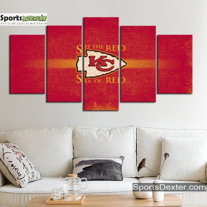 Kansas City Chiefs Red Art Canvas