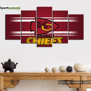Kansas City Chiefs Red Cross Canvas