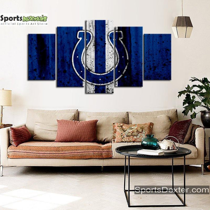Indianapolis Colts Rough Style Canvas