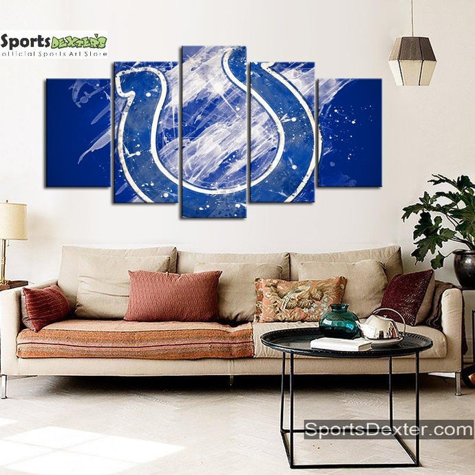Indianapolis Colts Paint Splash Canvas