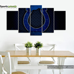 Indianapolis Colts Steel Style Canvas