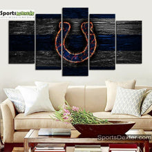 Load image into Gallery viewer, Indianapolis Colts Fire Burning Canvas