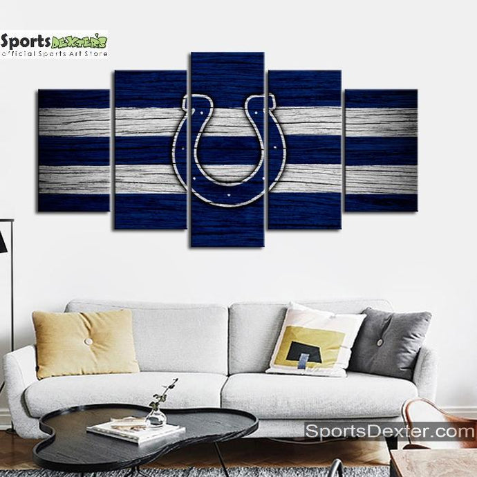 Indianapolis Colts Wooden Look Canvas