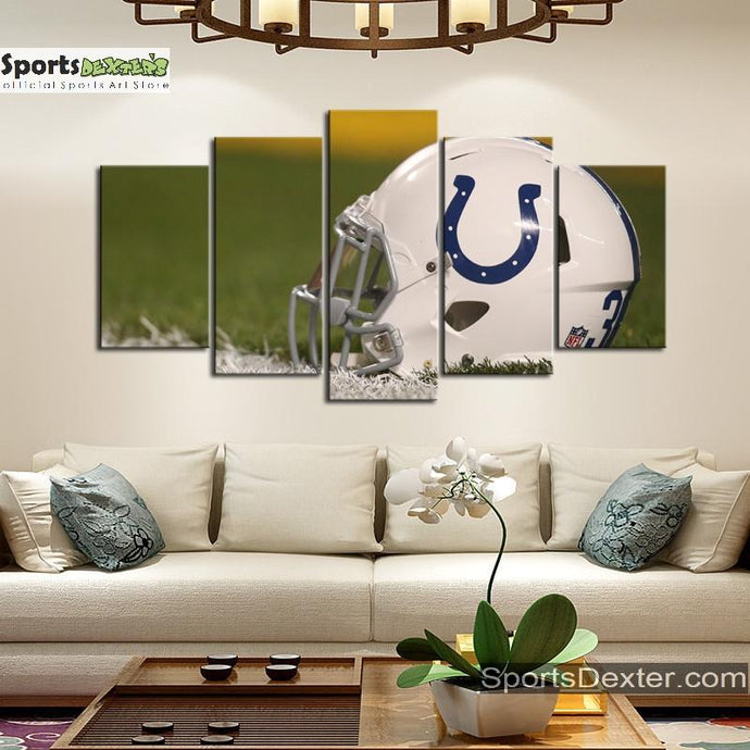Indianapolis Colts Helmet Look Canvas