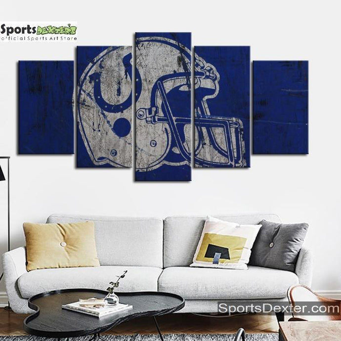 Indianapolis Colts Artistic Helmet Canvas