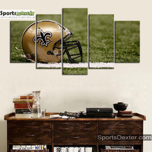 Load image into Gallery viewer, New Orleans Saints Helmet Canvas