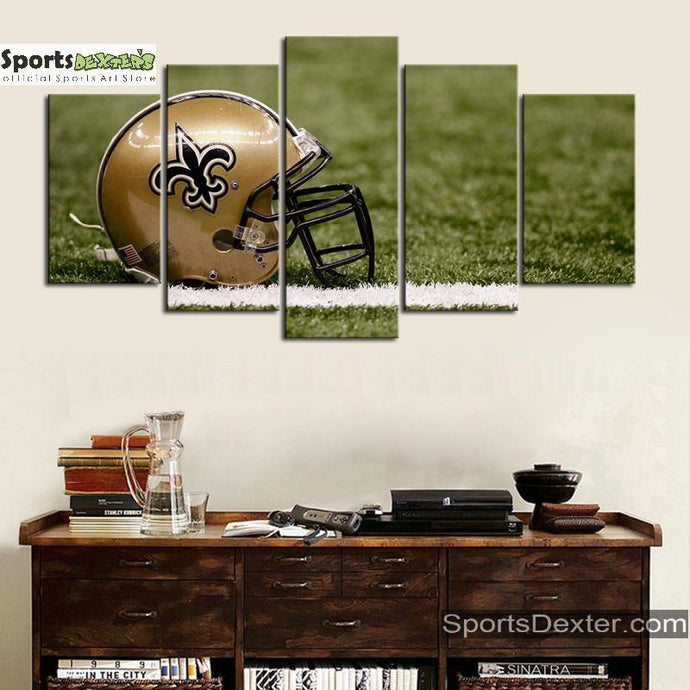 New Orleans Saints Helmet Canvas