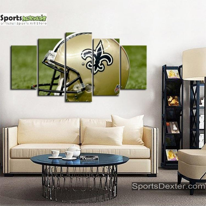 New Orleans Saints Helmet Look Canvas