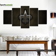 Load image into Gallery viewer, New Orleans Saints Steel Look Canvas