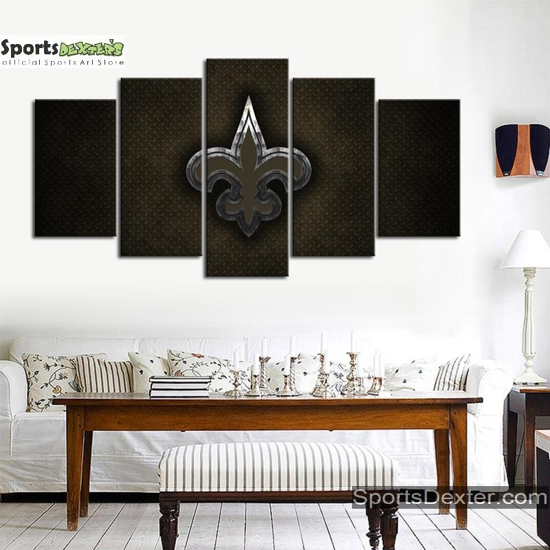New Orleans Saints Steel Look Canvas