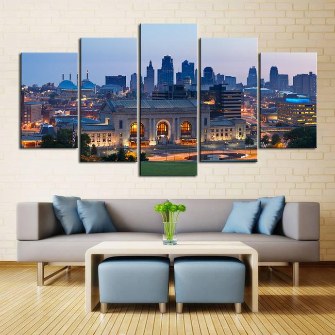 Union Station Kansas City Down Town Canvas