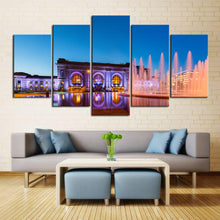 Load image into Gallery viewer, Union Station Kansas City Evening View Canvas