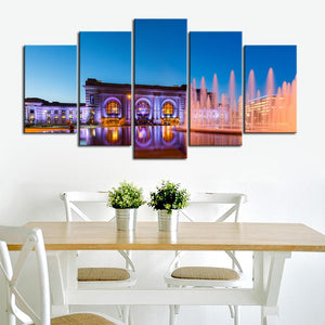 Union Station Kansas City Evening View Canvas
