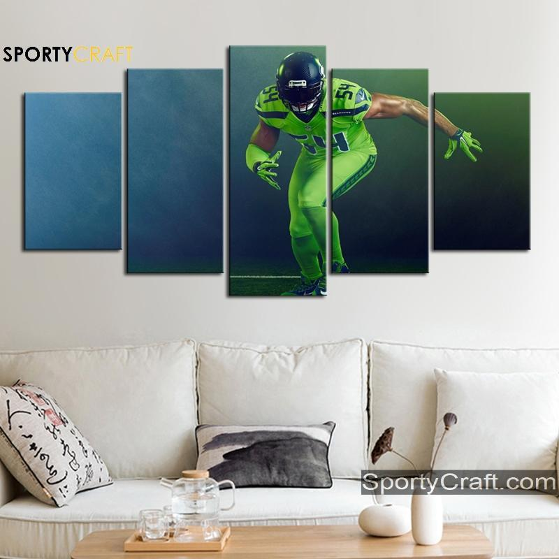 Bobby Wagner Seattle Seahawks Wall Canvas