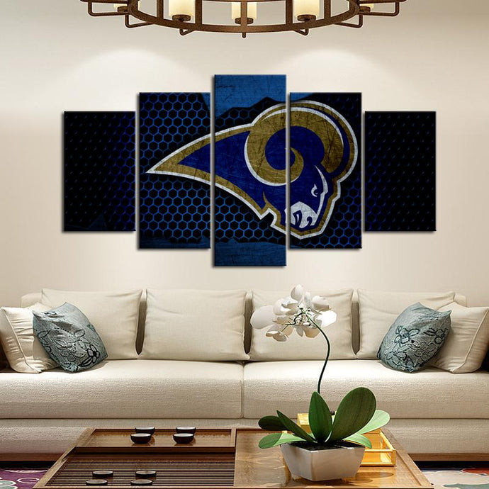 Los Angeles Rams Steel Look Canvas