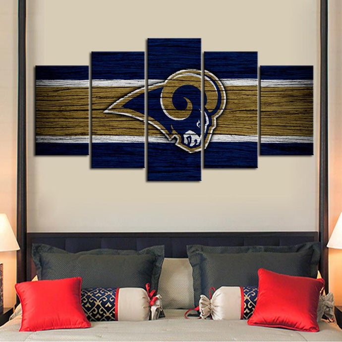 Los Angeles Rams Wooden Look Canvas