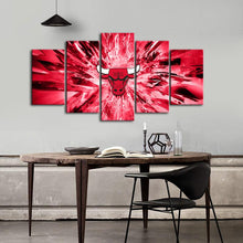 Load image into Gallery viewer, Chicago Bulls Crystal Look Canvas