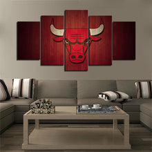 Load image into Gallery viewer, Chicago Bulls Red Wood Look Canvas