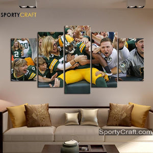 Green Bay Packers Player Wall Canvas