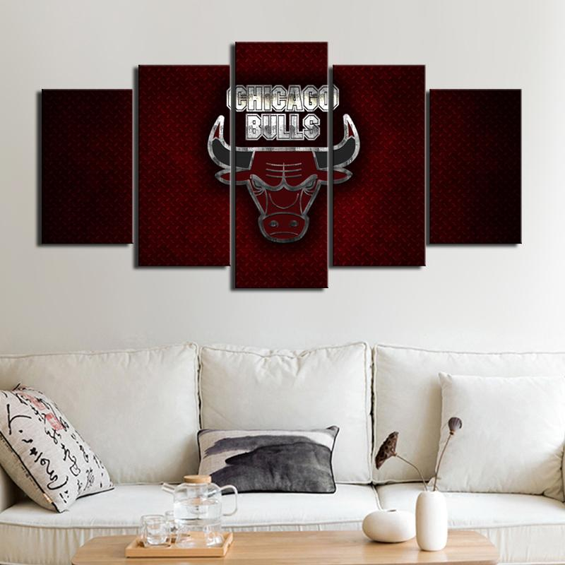Chicago Bulls Steel Style Canvas