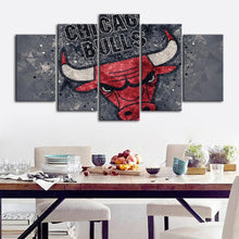 Load image into Gallery viewer, Chicago Bulls Tech Style Canvas