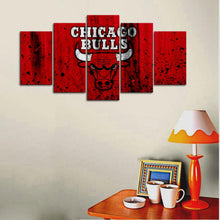 Load image into Gallery viewer, Chicago Bulls Rough Look Canvas