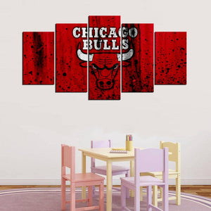 Chicago Bulls Rough Look Canvas