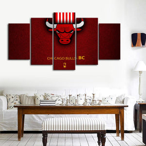 Chicago Bulls Leather Look Canvas