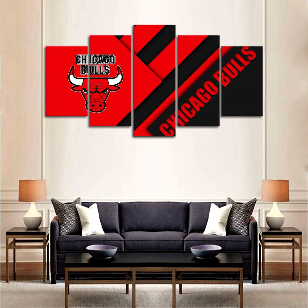 Chicago Bulls Wall Art Canvas