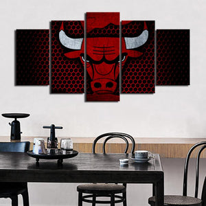 Chicago Bulls Steel Look Canvas
