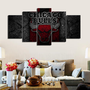 Chicago Bulls Rock Style Canvas