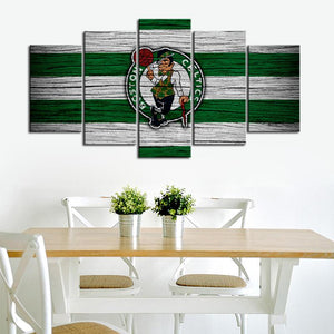 Boston Celtics Wooden Look Canvas