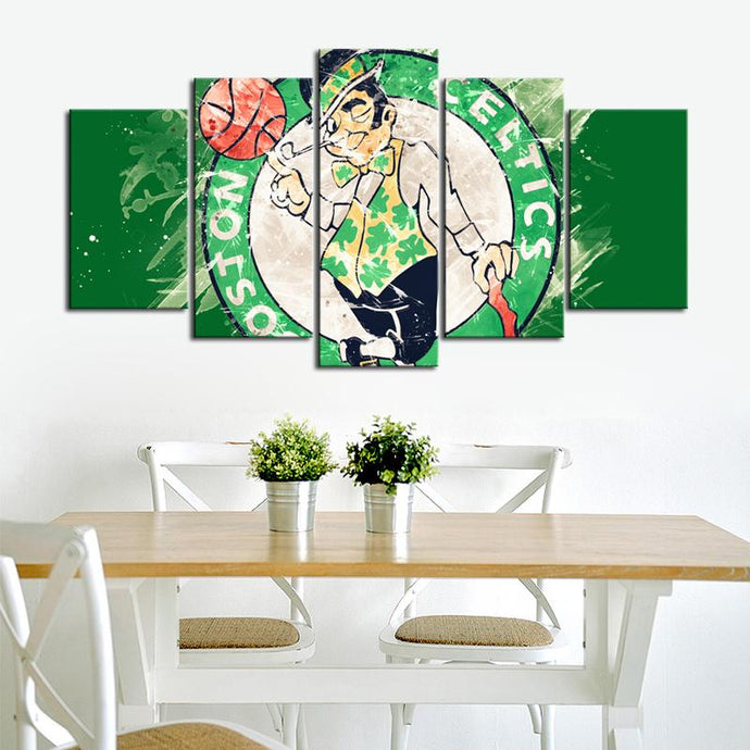 Boston Celtics Paint Splash Canvas