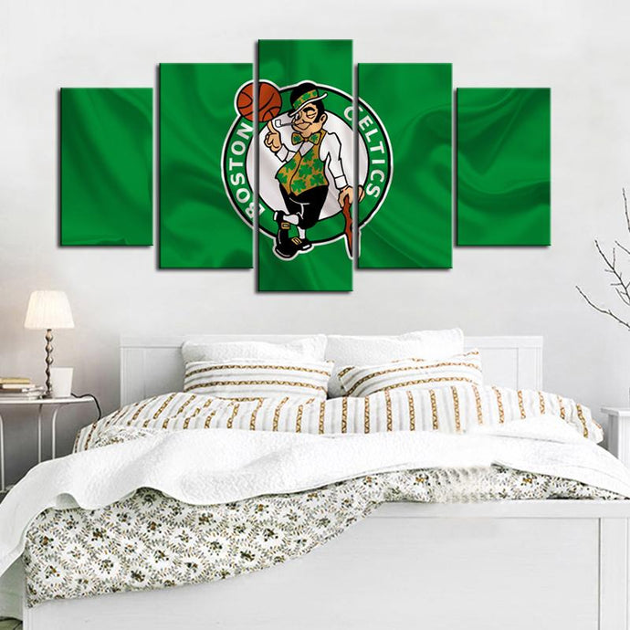 Boston Celtics Flag Look Canvas