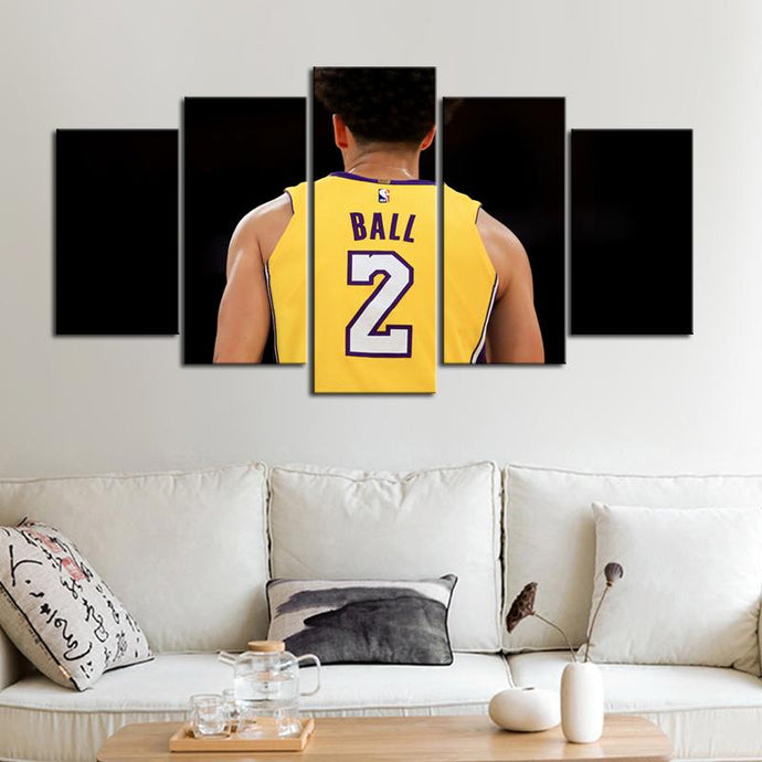 Lonzo Anderson Ball Los Angeles Canvas