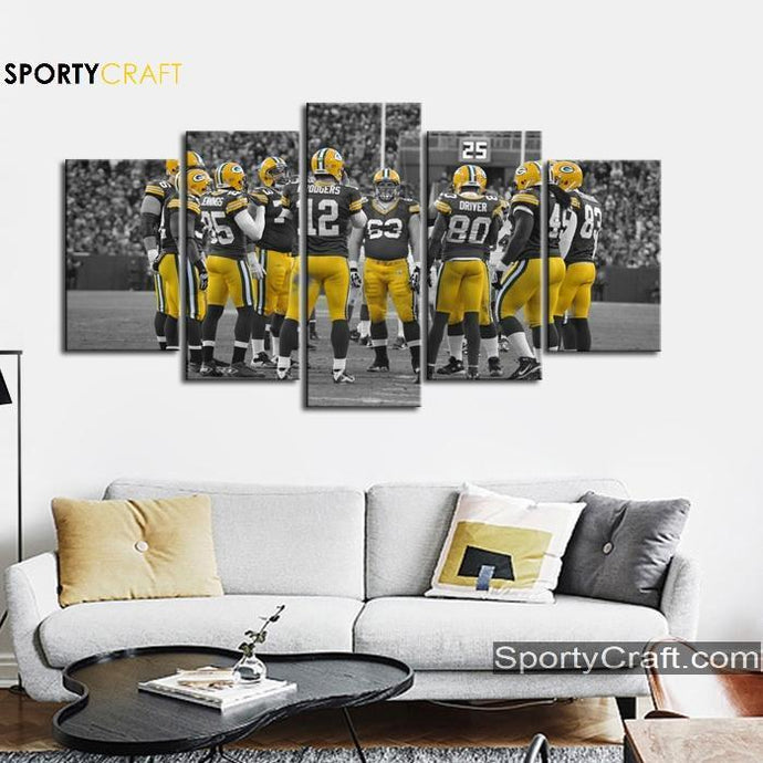 Green Bay Packers Team Wall Canvas